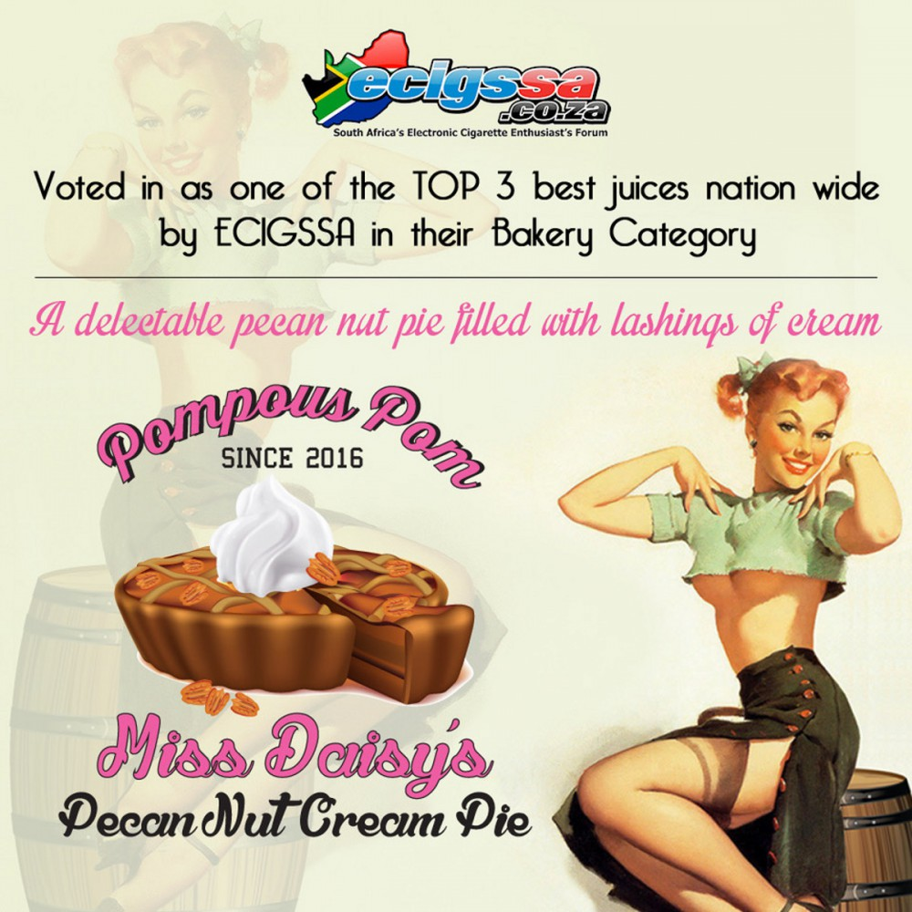Miss Daisy's Pecan Nut Cream Pie 30ml/100ml