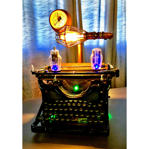 SteamPunk Vintage Typewriter Lamp