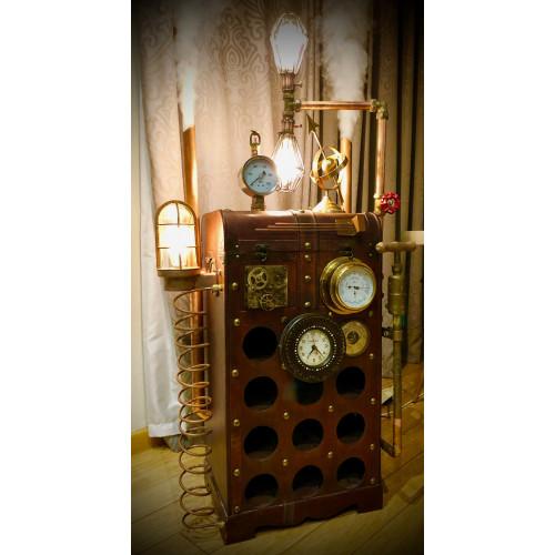 SteamPunk Wine Cabinet