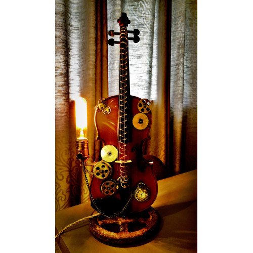 SteamPunk Violin Lamp