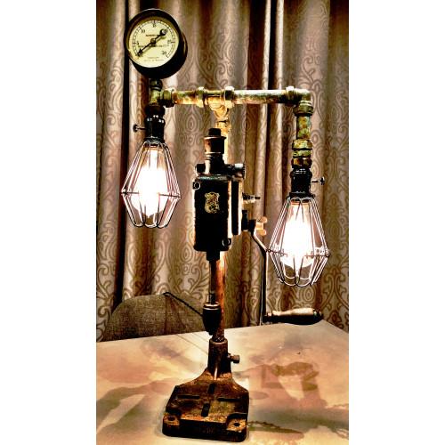 SteamPunk Vintage Drill Press Lamp